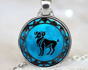 Aries Pendant, Astrology Pendant, Necklace, Aries Necklace, Birthday gift, Aries Jewellery, Star Sign, Jewellery, Jewelry, Zodiac, Present