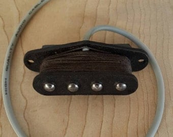 Ukulele, cigar box guitar, tenor guitar, mandolin handwound coil pickup.