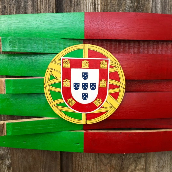 Portugal Flag Wine Barrel Decor Wood Portugal Flag By