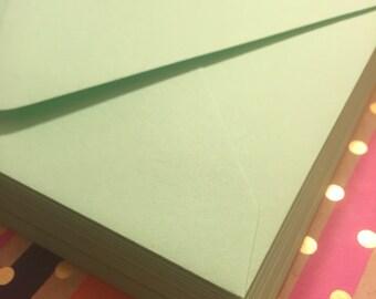 Green Euro Flap Envelopes - 25 pk /Forest, Moss, Mint