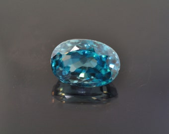 4.38 ct. Natural Oval Shaped Blue Zircon