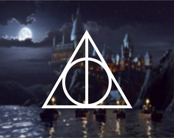 Deathly Hallows Vinyl Decal, Harry Potter Inspired Decal