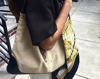 HERMES Canvas Shoulder Bag