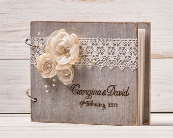 Wedding Guest Book Guest Book Rustic Guest Book Wedding Guestbook Custom Guest Book Rustic Wedding Wood Guest Book Guestbook Wedding Gift