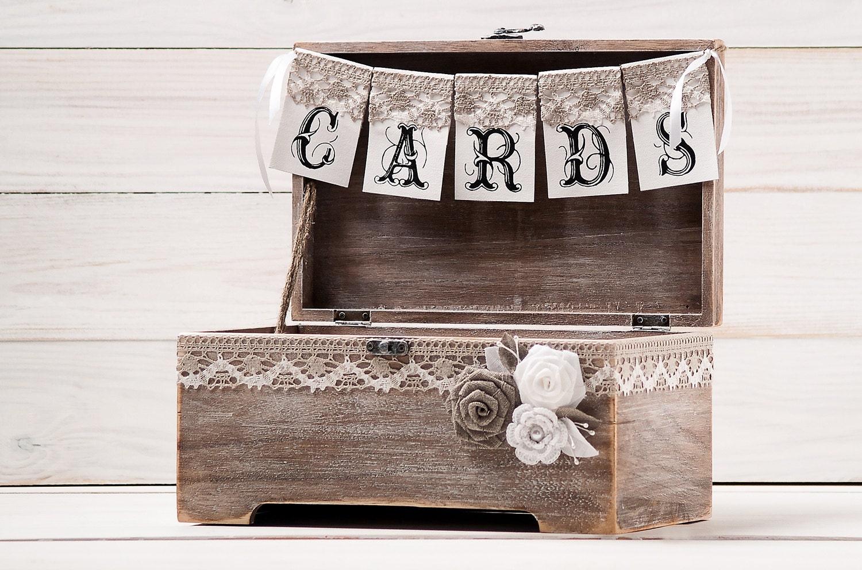 Wedding Gift Box Holder: Wedding Gift Card Holder Wedding Rustic Cards Box Wood Card