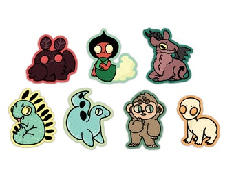PACK OF 7 Cryptozoology Vinyl Stickers
