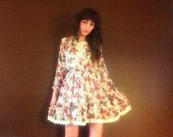 Rose Dress Floral Dress Flower Dress