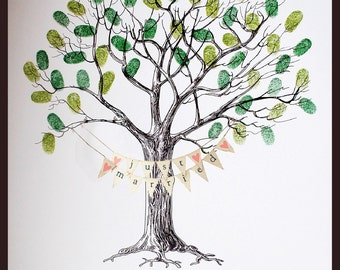Wedding Fingerprint Tree- WITH BUNTING