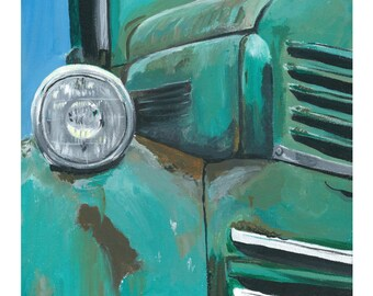 Farm truck print from original truck painting 'Rusty Old Farm Truck'  antique farm truck painting
