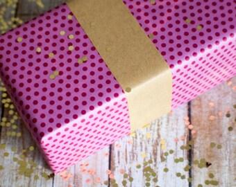 Long rectangle brown kraft paper 25cm x 3cm