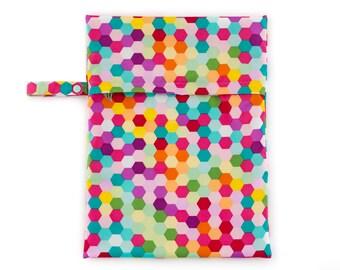 Hexagons Waterproof Nappy Bag