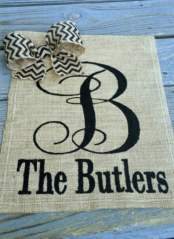 Wedding Gifts For Outdoorsy Couples : Personalized Garden Flag, Wedding Gifts for Couple, Burlap Flag ...