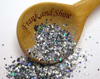 Twinkle Black Solvent Resistant Holo Glitter Mix