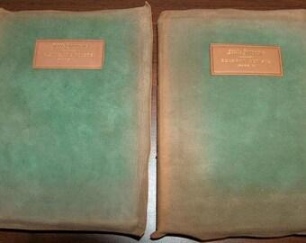 p7397 Elbert Hubbard 1902 Little Journeys Eminent Artists Illuminated Sgnd Set 2 Leather Bound Vintageway Furniture