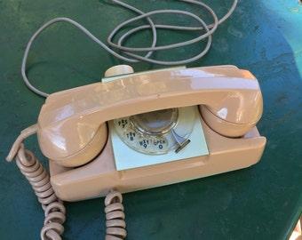 Vintage Starlite Rotary Telephone Beige