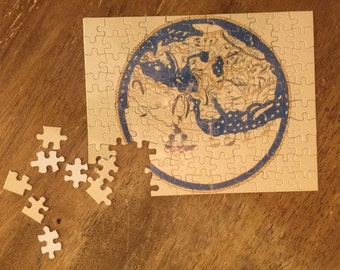 Islamic art etsy al idrisi world map puzzle medieval old world map educational toy medieval gumiabroncs Choice Image