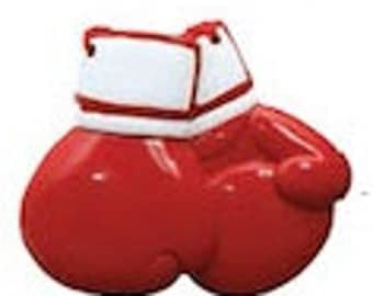 Red Boxing Gloves Personalized Boxing Ornament