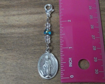 Blessed Mary zipper charm or decoration