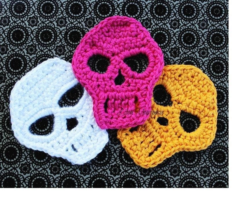 Crochet Skull Applique Patterns Patterns Kid