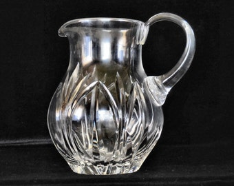 Block Cut Lead Crystal Pitcher