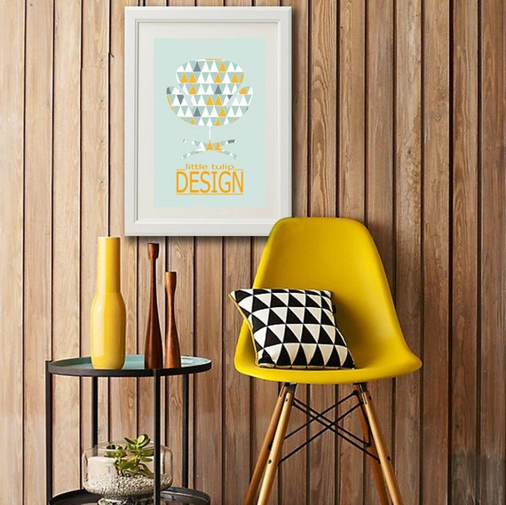 affiche au style scandinave avec fauteuil little par. Black Bedroom Furniture Sets. Home Design Ideas