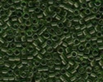 MIYUKI #11 Delica 1107 - Transparent Olive Green - 5 grams