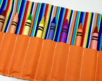 Boy Birthday Gift Crayon Roll CRAYONS INCLUDED Gift Ideas for Boys Crayon Holder Crayon Case Art Storage Travel Games Shop for a Cause