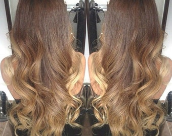 Hair extensions etsy au balayage dip dye 8a remy synthetic heat resistant ombre hair extensions colour 10 ash brown colour pmusecretfo Choice Image