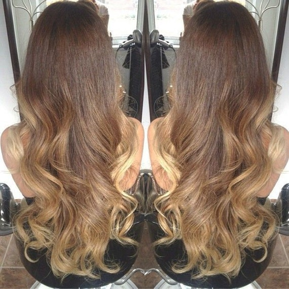 Balayage Dip Dye 13A Remy Synthetic Heat Resistant Ombre Hair