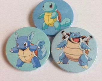 Squirtle Evolution Badge Set