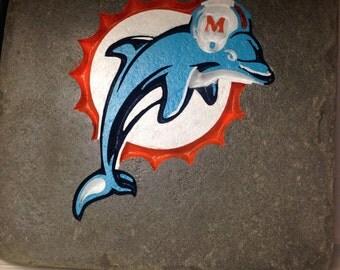 Miami Dolphins Garden Stone