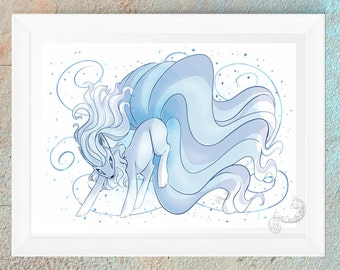 Pokemon Ninetales Alola Poster Print Picture Video Game Geeky Nerd