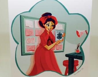 """Women In Animation: Gyo Fujikawa 5""""x7"""" print"""