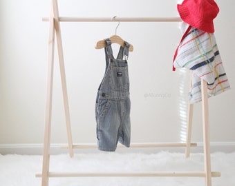 MINI Children's Clothing Rack (NO Canvas )Childrens room - Play - Kids- Toy room - Dress up - Children's clothing - Wooden rack - Kids