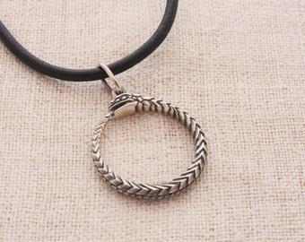 Ouroboros pendant sterling silver