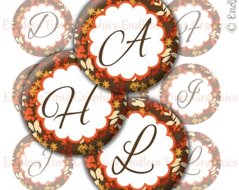 Thanksgiving Bottlecap Images. Digital Bottle Cap Images. Fall Alphabet, Fall Quotes ~* Digital Collage Sheet*~ 1 Inch Printable Circles 098