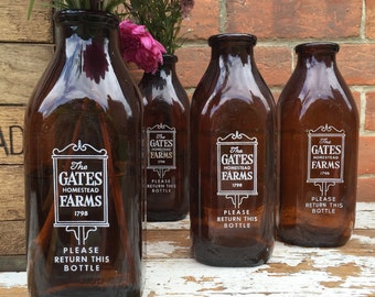 Gates Homestead Farm Dairy Bottle