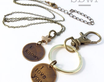 His and hers necklaces/keychain