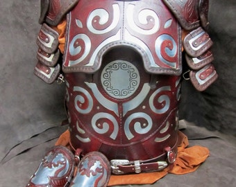 Hand Crafted Leather armour in the style of Eomer - Lord of the Rings includes Torso, Pauldrons & Vambraces.