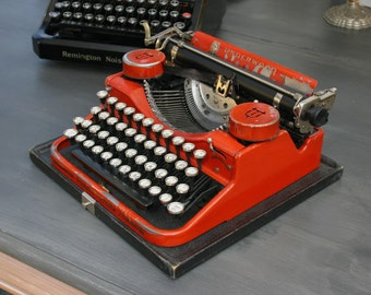 Red Underwood Standard Typewriter
