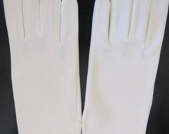 Vintage White Nylon Stretch Gloves Honk Kong