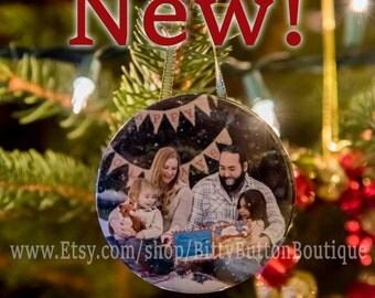 "3"" Cutom Photo Ornament"