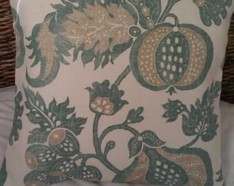 Green Acorn cushion cover...cotton/linen 16 inch