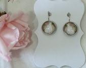 Floris & Florian-7- summer scented night garden-original print french style earrings.