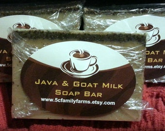 Java & Goat Milk Soap 4oz Bar