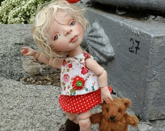 Ksenia - OOAK BJD  doll - polymer clay - Handmade doll