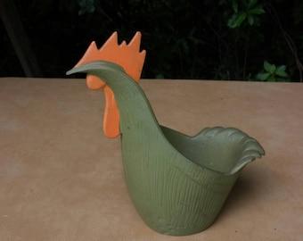Unique rooster planter