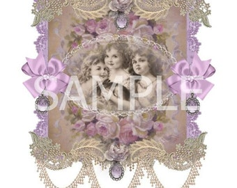 Fabric Art Quilt Block - Three Sisters -  14-0189 - FREE Shipping