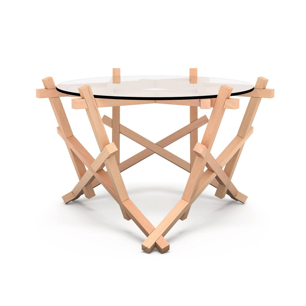 6x3 Round Wooden Puzzle Coffee Table Free Shipping To By Praktrik