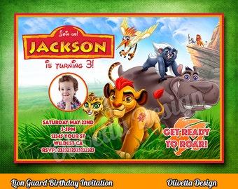 Lion Guard Invitation, Lion Guard Invite, Printable Lion Guard Invite, Lion Guard Birthday Invitation Digital File